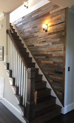 reclaimed stair wall
